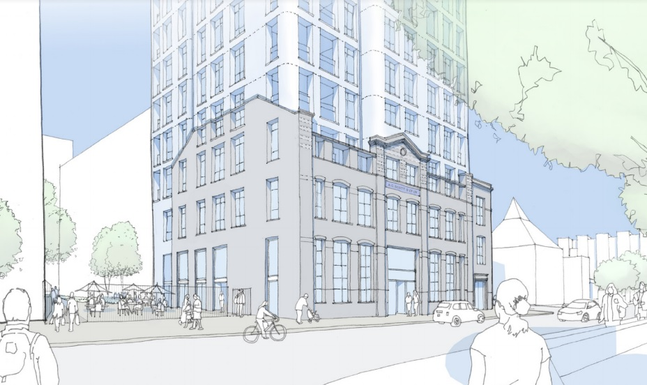 Tower on Victorian building coming to Deptford