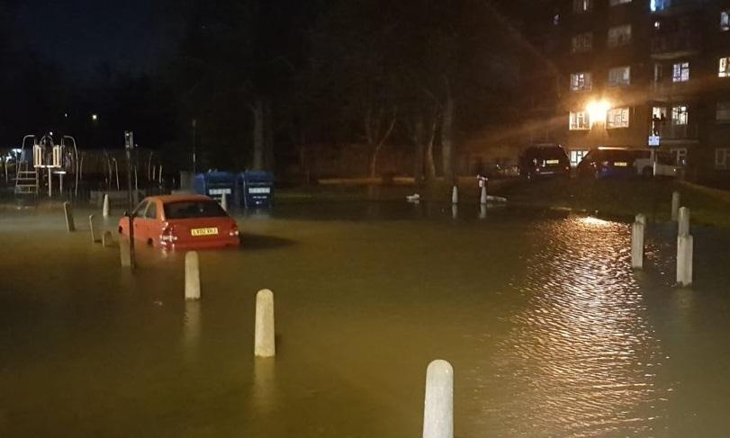 Flooding hits parts of Lewisham