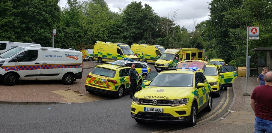 Emergency services attend incident at Kidbrooke station