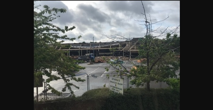 Demolition underway for new Aldi store