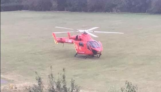 Helicopter lands after Eltham stabbing
