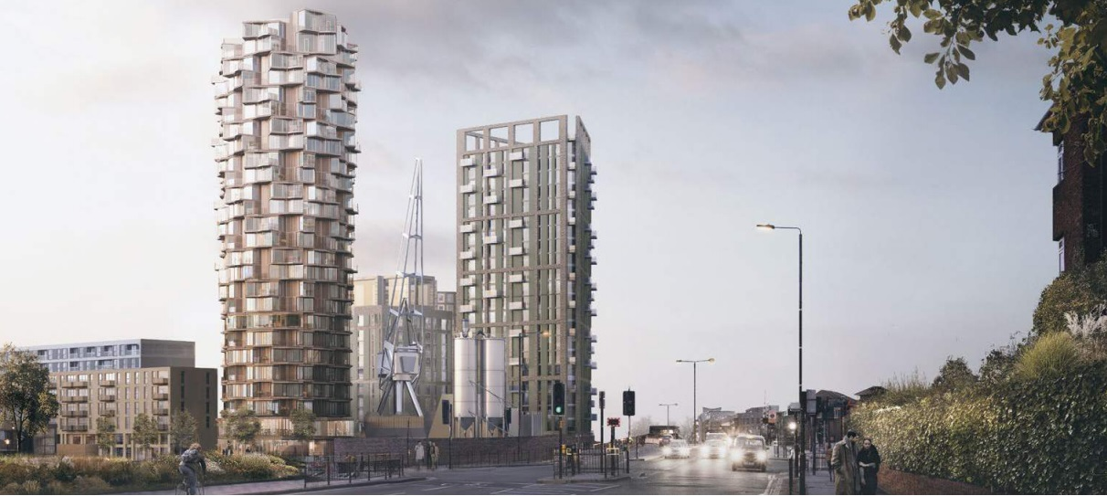 Greenwich tower plans at Ravensbourne Wharf revised