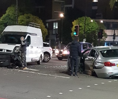 Crash closes Lee Green junction this evening