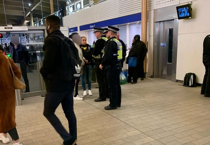 Three arrests at Abbey Wood station after police operation