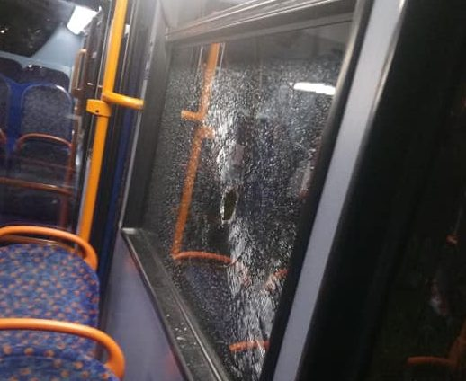London bus on route 96 attacked in Dartford