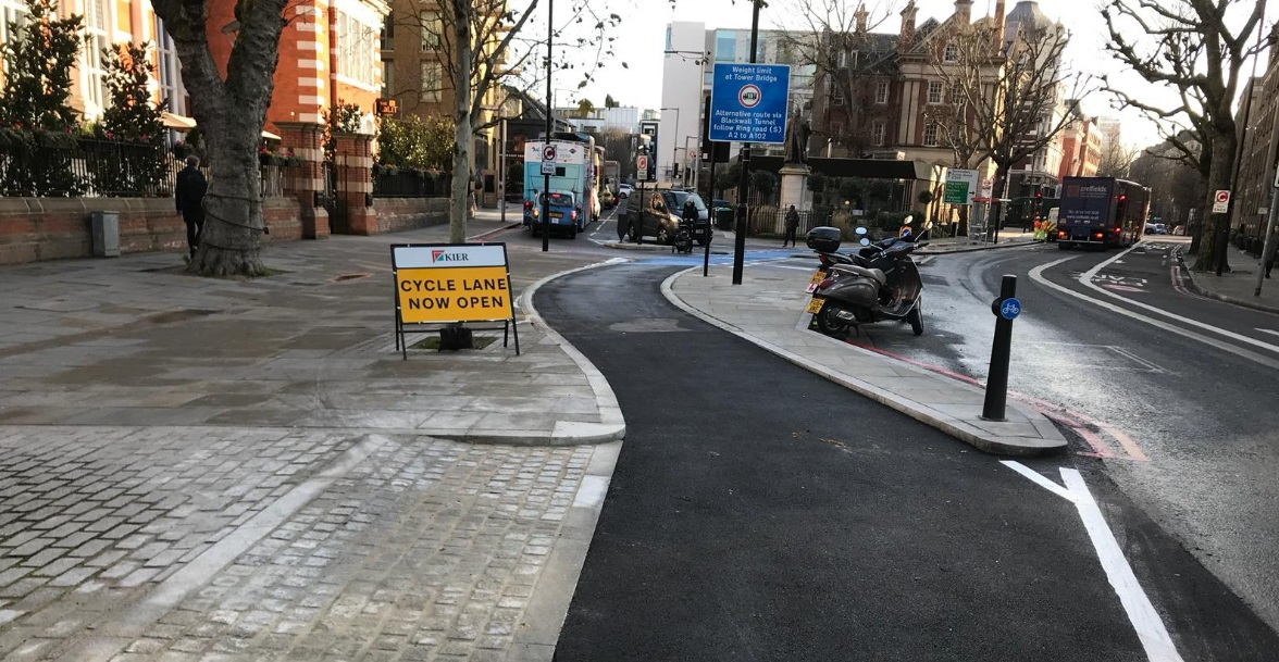 First stage of Cycle Superhighway 4 to Greenwich opens
