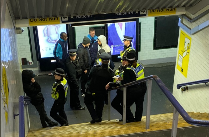 Latest police rail operation at Lewisham sees two arrests