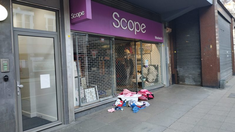 Calls to stop dumping rubbish outside charity shops