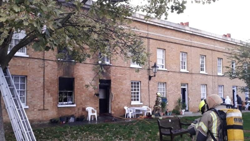 House fire in Peckham Asylum Chapel building