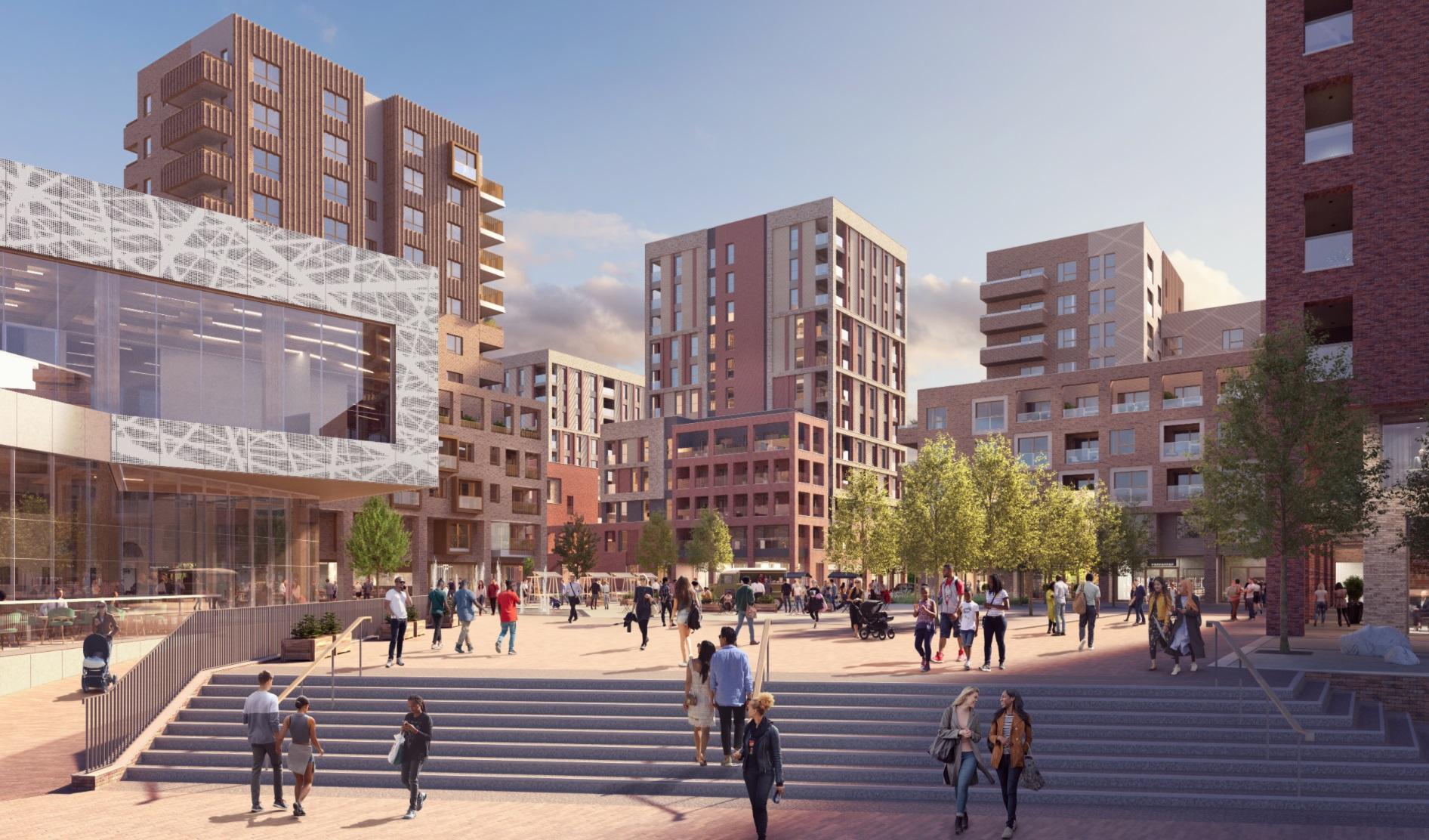 Flagship Thamesmead estate rebuild sees design cuts