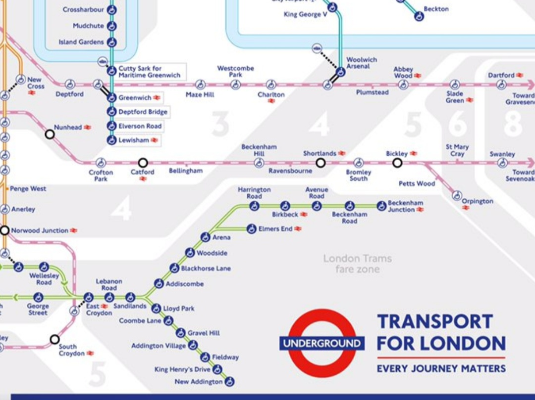 """Charlton, Plumstead, Abbey Wood & others join """"tube"""" map"""