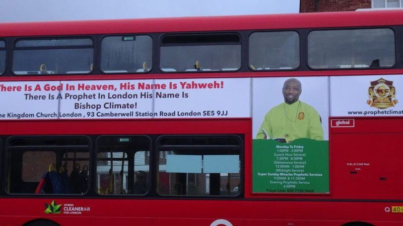 Church found selling fake covid cure now advertising on London buses