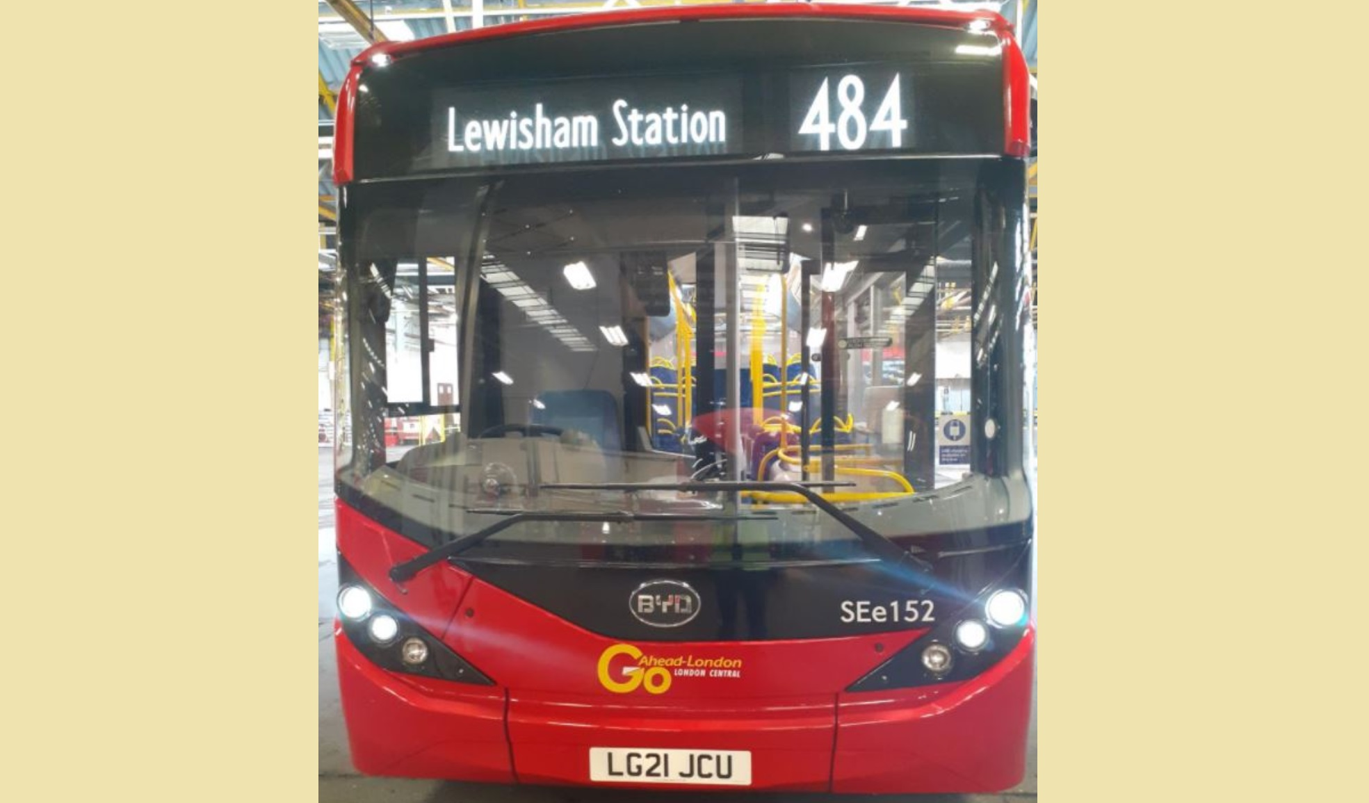 Electric bus route starts in south east London