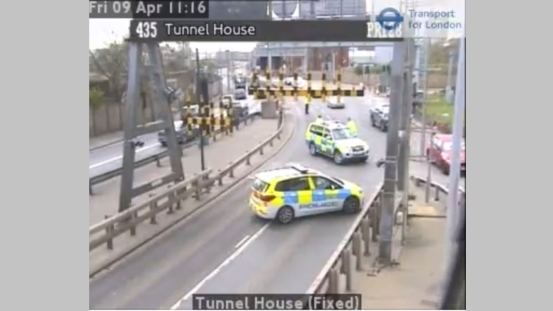 Fire in Blackwall Tunnel