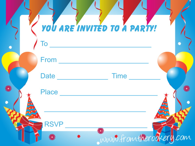 Find everything you need to ensure your kid's birthday party is a hit. Birthday Party Invitations For Kids