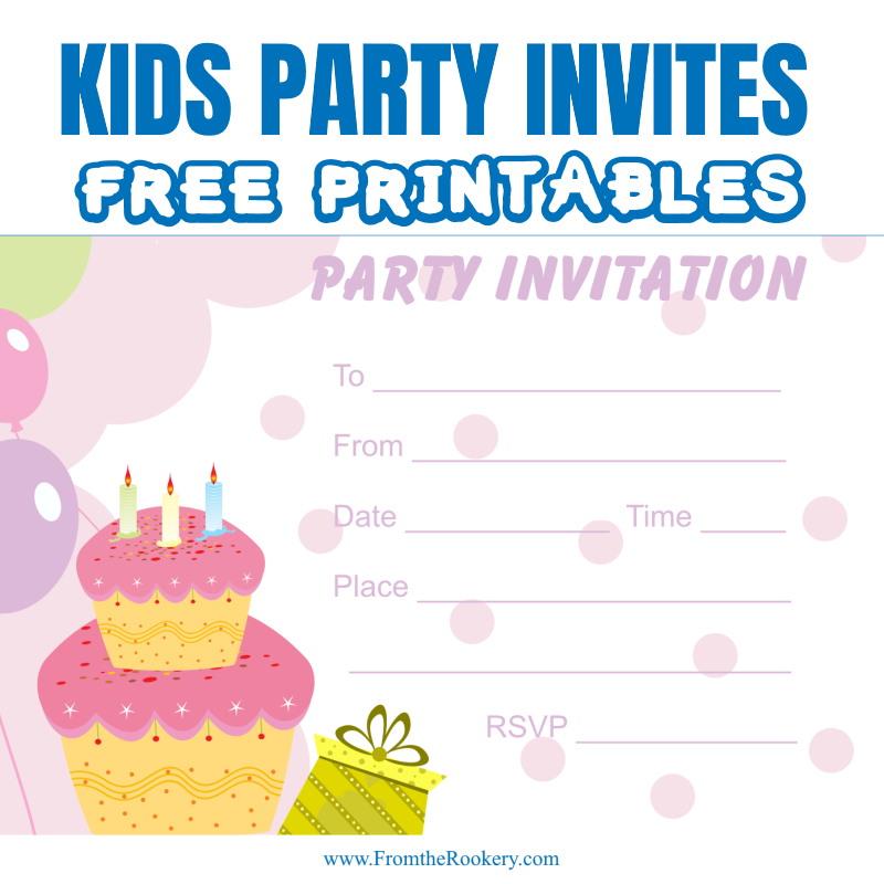 kids birthday party invites