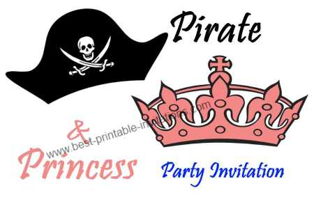 princess and pirate party invitation