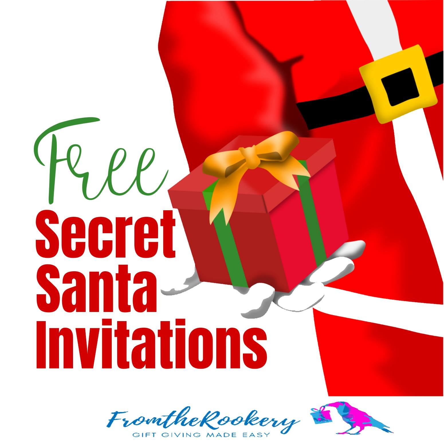 Free Printable Secret Santa Invitations