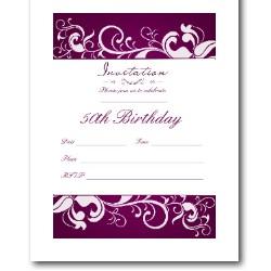 Bright 50th Birthday Invite
