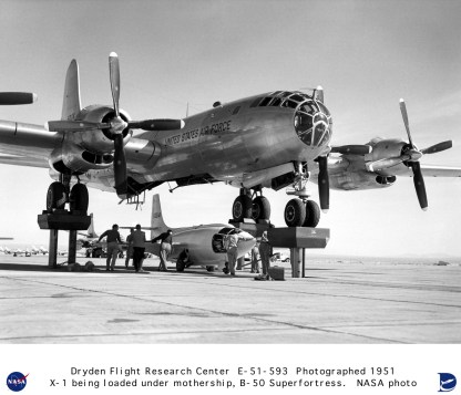 chuck yeager - x-1 e b-50 superfortress