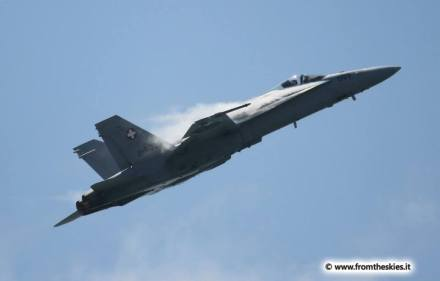 F-18 Swiss Air Force - Roma International Air Show 2014
