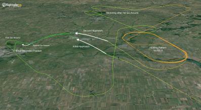 Incidente FlyDubai - FZ981 - Traccia Volo 1