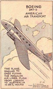 Boeing 247D Inghilterra-Australia