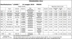 Loano Air Show 2016 - Programma Sabato 14 Maggio