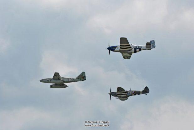 Me 262, Spitfire, Mustang - Pardubice Air Show 2016