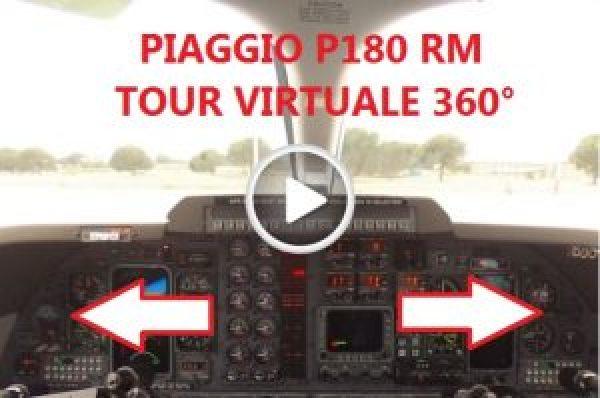 PAGGIO P180 RM Tour Virtuale 360°