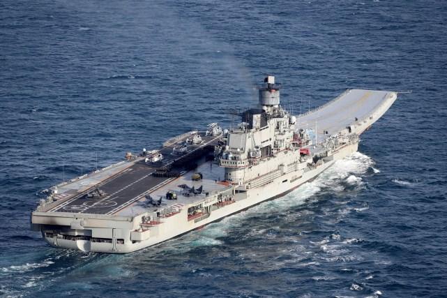 Image of the Russian warship Admiral Kuznetsov. Image credit: Crown Copyright