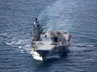 Image of the Russian warship Admiral Kuznetsov. Image credit: Crown Copyright
