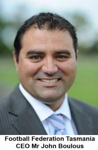 28.3.2012 Pic Will SwanFootball Federation Tasmania CEO John Boulous