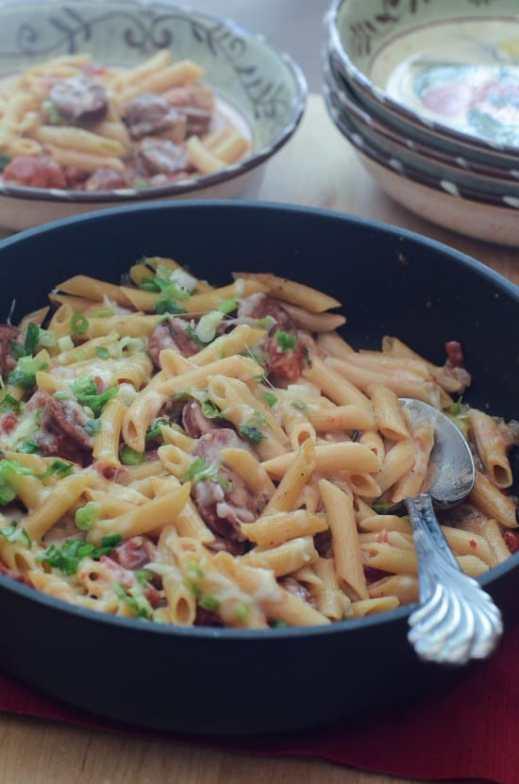 skillet sausage pasta - Valeries Kitchen