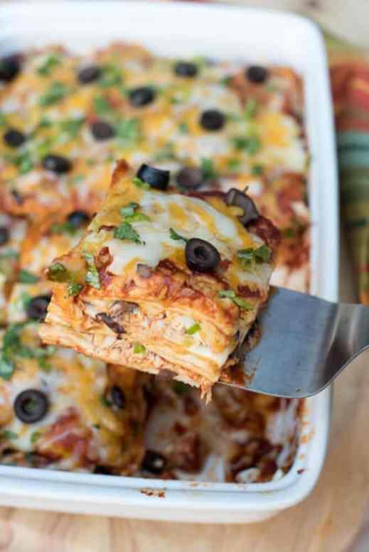 chicken enchilada casserole from valeries kitchen - Valeries Kitchen