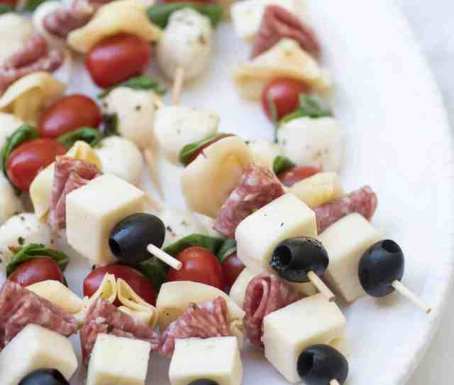 Delicious Ingredients All Together In One Little Appetizer Skewer These Antipasto Skewers Are A Super