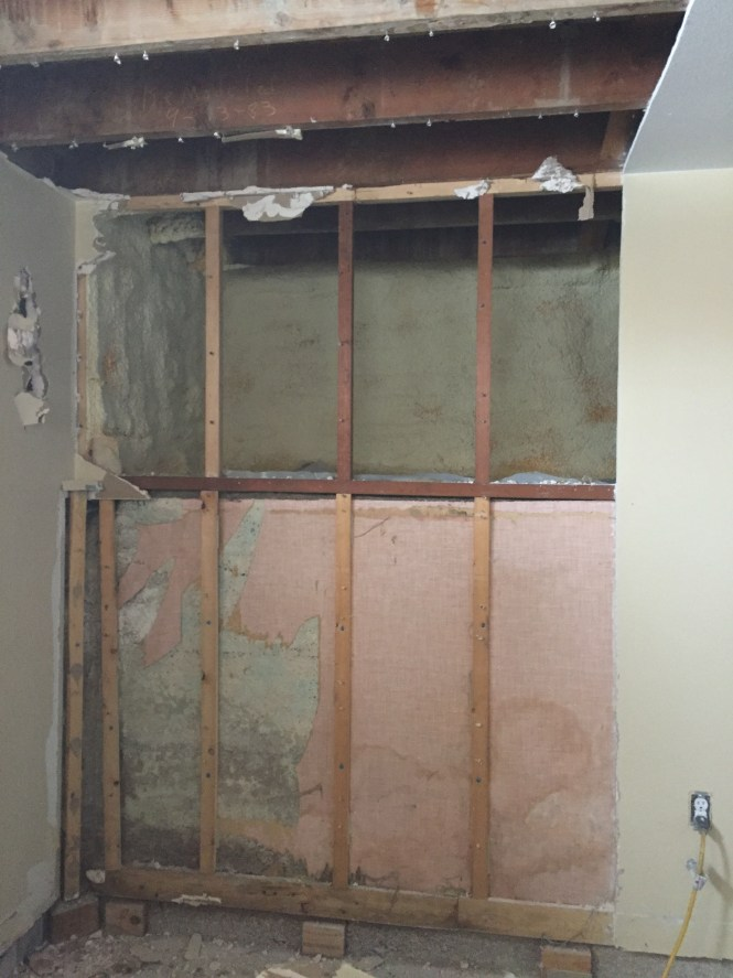 Drywall demo, exposed crawlspace