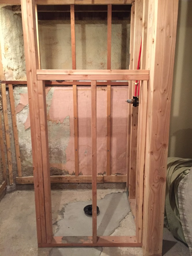 Walk-In Shower 3/4 height wall