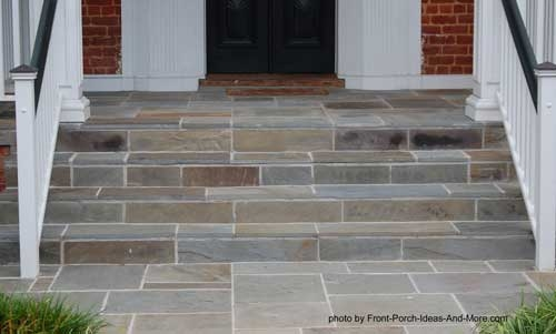 Ranch Home Porches Add Appeal And Comfort | Front Porch Steps Designs | Porch Style | Beautiful Front | Front Entry Brick Stair | Outside | Outdoor Step