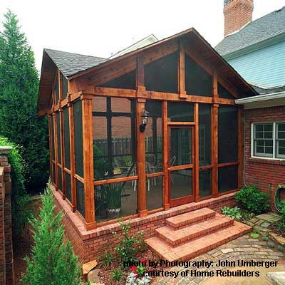 porch screening material options for