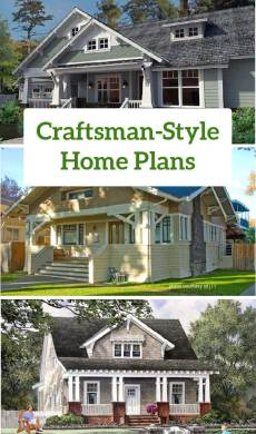 Craftsman Style Home Plans   Craftsman Style House Plans   Bungalow     ideal Craftsman style home design and front porch familyhomeplan com number  75137