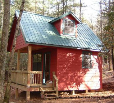 Small Cabin House Plans   Small Cabin Floor Plans   Small Cabin     Town and Country Plans   Kenora  small cabin house