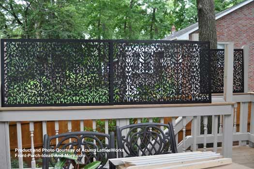 vinyl lattice panels black lattice