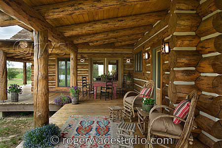 Image Of Charming Log Cabin Bedroom Decorating Ideas Using Cotton Throw Blanket And Euro Pillow Shams