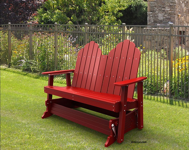 Recycled Plastic Glider Outdoor Furniture Glider Porch