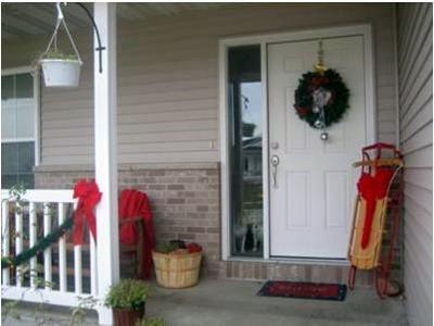 Image Of Front Porch Christmas Decor Ideas