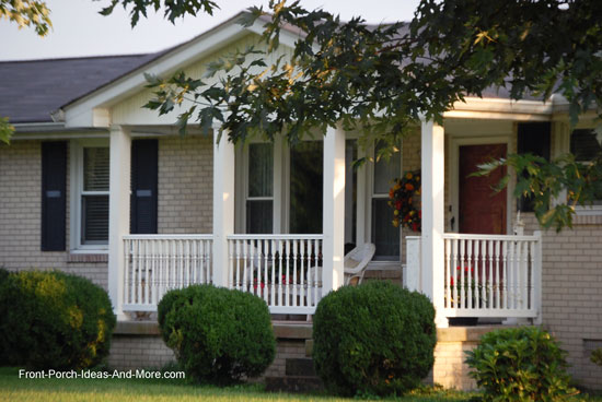 Ranch Home Front Porch Rail
