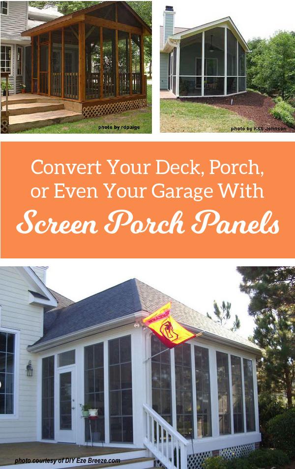 screen panels for porches versatile