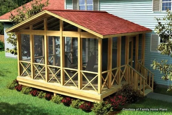 Screened In Porch Plans to Build or Modify Screened In Porch Plans