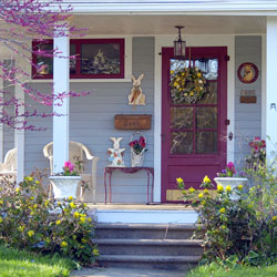 Major Spring Inspiration Striking Doors Porches And Entryways Roundup By Porch Decorating Ideas